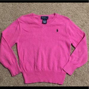 💕 Girls Polo by Ralph Lauren pink sweater, sz 5.